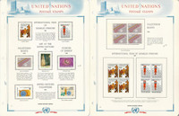United Nations Stamp Collection 1981-84 on 17 White Ace Pages, Vienna