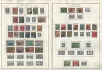 United States Stamp Collection 1861 to 1925 on 10 Harris Pages, Classics