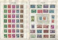 United States Stamp Collection 1940 to 1966 on 14 Harris Pages, Mint