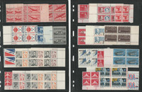 United States Stamp Collection, Mint NH Airmail Plate Blocks, 3 Pages