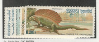 Cambodia, Postage Stamp, #663-669 Mint NH, 1986 Dinosaurs