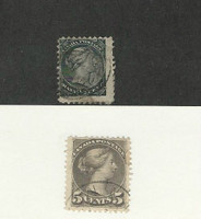 Canada, Postage Stamp, #34, 42 Used, 1882-88