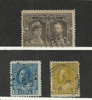 Canada, Postage Stamp, #96, 110, 115 Used, 1908-25