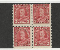 Canada, Postage Stamp, #219 Mint NH Block, 1935