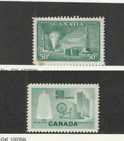 Canada, Postage Stamp, #294 (Stain), 334 Mint NH, 1950-53