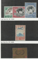 Ceylon, Postage Stamp, #304-6 Mint NH, 344 Hinged, 387 LH, 1949-65