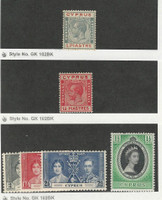 Cyprus, Postage Stamp, #89, 96, 140-142, 167 Mint Hinged, 1924-53