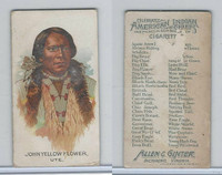 N2 Allen & Ginter, Celebrated American Indian Chiefs, 1888, John Yellow Fl (B)