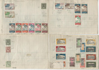 French Colonies Unsorted Stamp Collection on 8 Pages, Nice Old Lot