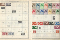 French Equatorial Africa Stamp Collection on 4 Minkus Global Pages 1936-50