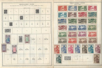 French Guiana & Guinea Stamp Collection on 8 Minkus Global Pages 1892-1947