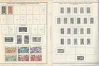 French India Stamp Collection on 4 Minkus Global Pages 1923-1950