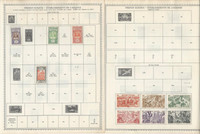 French Polynesia Stamp Collection on 5 Minkus Global Pages 1892-1958
