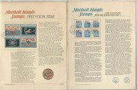 Marshall Islands Set Panels, 7 Pages, Map, Dolphins, Christmas (D)