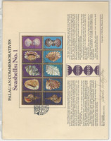 Palau Set Panel Collection, 9 Pages, Bird, Fish, Whale, Shell (D)