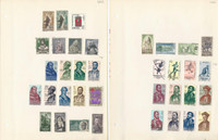 Spain Stamp Collection 1952 to 1977 on 42 Pages, Lots of Complete Sets