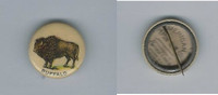 1896 PE7-1 American Pepsin Gum, Animals Pin Back, Buffalo, ZQL
