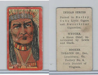 T74 Booker Tobacco, Indian Series, 1906, Weucha (B)