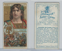 S0-0 Stollwerck Chocolate, Great Leaders, 1899, #1 Alexander The Great