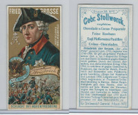S0-0 Stollwerck Chocolate, Great Leaders, 1899, #5 Fredrick The Great