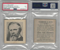 R210 Trio Gum, Know Your Presidents, 1940, Rutherford B Hayes, PSA 3 VG