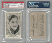 E123-2 American Caramel, Movie Actors S. 120, 1921, #57 Buck Jones, PSA 2