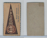 F Card ,1940's Quaker, College Pennants, Brown University, Bruins