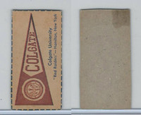 F Card ,1940's Quaker, College Pennants, Colgate University, Red Raiders