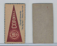 F Card ,1940's Quaker, College Pennants, Cornell University, Big Red