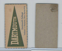 F Card ,1940's Quaker, College Pennants, Dartmouth College, Indians