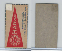 F Card ,1940's Quaker, College Pennants, Harvard University, Crimson