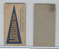 F Card ,1940's Quaker, College Pennants, Louisiana State University, Bayou Tigers