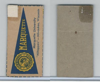 F Card ,1940's Quaker, College Pennants, Marquette University, Hilltoppers