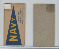 F Card ,1940's Quaker, College Pennants, Navy, United States Naval Academy