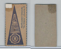 F Card ,1940's Quaker, College Pennants, Northwestern University, Wildcats