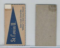 F Card ,1940's Quaker, College Pennants, St. Louis University, Billikens