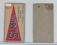 F Card ,1940's Quaker, College Pennants, Southern Methodist University, Mustang