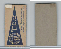 F Card ,1940's Quaker, College Pennants, Texas Christian University, Horned Frogs