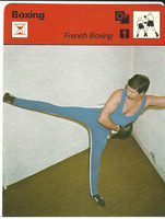 1977-79 Sportscaster Card, #61.24 Boxing, French Boxing, ZQL