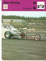 1977-79 Sportscaster Card, #62.21 Auto Racing, Dragsters, ZQL
