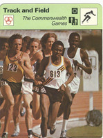 1977-79 Sportscaster Card, #64.03 Track, Commonwealth Games, ZQL