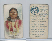 E46 Philadelphia Caramel, Indian Pictures, 1911, Always Riding, Yampah Ute
