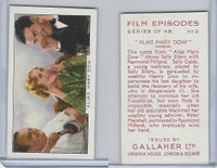G12-84 Gallaher, Film Episodes, 1936, #2 Alias Mary Dow, Sally Eiliers, Milland