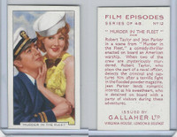 G12-84 Gallaher, Film Episodes, 1936, #12 Murder In Fleet, Robert Taylor, J Parker