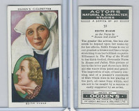 O2-123 Ogdens, Actors Natural & C. Studies, 1938, #10 Edith Evans