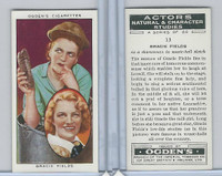 O2-123 Ogdens, Actors Natural & C. Studies, 1938, #13 Gracie Fields
