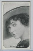 W Card, Kromo Gravure Silent Movie Stars, 1920, Alice Brady