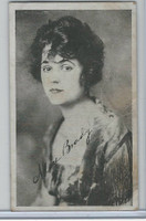 W Card, Kromo Gravure Silent Movie Stars, 1920, Alice Brady (B)