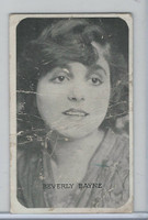 W Card, Kromo Gravure Silent Movie Stars, 1920, Beverly Bayne