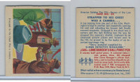 1949 Bowman, America Salutes FBI, #35 Strapped To His Chest Was Camera